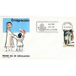 1986 Spanien 2725 Auswanderung  Ersttagsbrief  Guter Zustand  (Michel)
