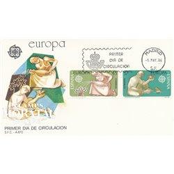 1986 Spanien 2726/2727  Europa Europa Ersttagsbrief  Guter Zustand  (Michel)