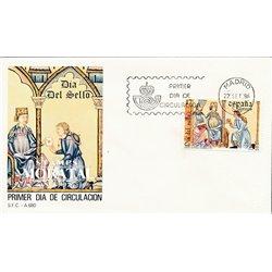 1986 Spanien 2741 Tag der Briefmarke Philatelie Ersttagsbrief  Guter Zustand  (Michel)