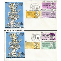 1986 Spanien 2743/2748  Entdeckung Amerika  I Amerika Ersttagsbrief  Guter Zustand  (Michel)