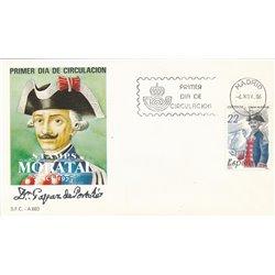 1986 Spanien 2749 Gaspar Portola Persönlichkeiten Ersttagsbrief  Guter Zustand  (Michel)