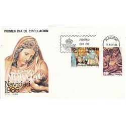 1986 Spanien 2750/2751  Weihnachten Weihnachten Ersttagsbrief  Guter Zustand  (Michel)