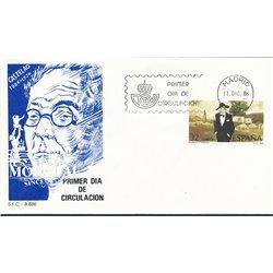 1986 Spanien 2756 Castelao Persönlichkeiten Ersttagsbrief  Guter Zustand  (Michel)