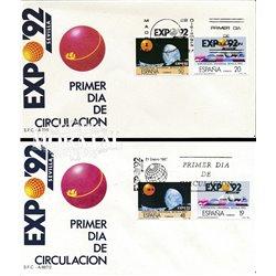 1987 Spanien 2758  Expo 92 ich Ausstellung Ersttagsbrief  Guter Zustand  (Michel)