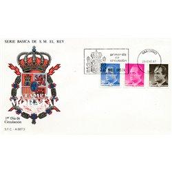 1987 Spanien 2760/2762  Grundlegende. Juan Carlos I (II). Serie Gene Ersttagsbrief  Guter Zustand  (Michel)