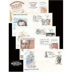 1987 Spanien 2765/2807  Hundertjährigen Persönlichkeiten Ersttagsbrief  Guter Zustand  (Michel)