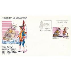 1987 Spanien 2764 Marineinfanteriekorps Militär Ersttagsbrief  Guter Zustand  (Michel)