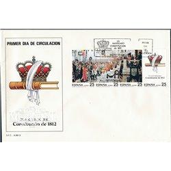 1987 Spanien 2767/2770  Verfassung Amtlichen Stellen Ersttagsbrief  Guter Zustand  (Michel)