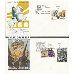 1987 Spanien 2777/2778  Fest IV Fest Ersttagsbrief  Guter Zustand  (Michel)