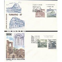 1987 Spanien 2786/2780  Touristischen XII Tourismus Ersttagsbrief  Guter Zustand  (Michel)