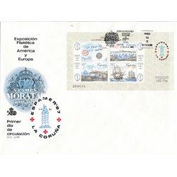 1987 Spanien Block30 Block Espamer 87 Ausstellung Ersttagsbrief  Guter Zustand  (Michel)