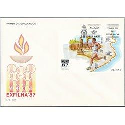1987 Spanien Block31 Block Exfilna 87 Ausstellung Ersttagsbrief  Guter Zustand  (Michel)