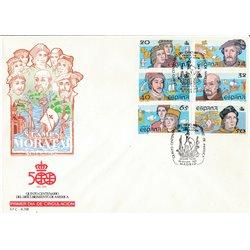 1987 Spanien 2799/2804  Entdeckung Amerika  II Amerika Ersttagsbrief  Guter Zustand  (Michel)