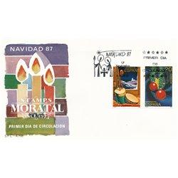 1987 Spanien 2805/2806  Weihnachten Weihnachten Ersttagsbrief  Guter Zustand  (Michel)