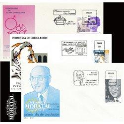 1988 Spanien 2812/2830  Hundertjährigen Persönlichkeiten Ersttagsbrief  Guter Zustand  (Michel)
