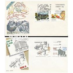 1988 Spanien 2816/2837  Touristischen XIII Tourismus Ersttagsbrief  Guter Zustand  (Michel)