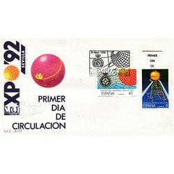 1988 Spanien 2818/2819  Expo 92 II Ausstellung Ersttagsbrief  Guter Zustand  (Michel)