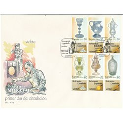 1988 Spanien 2820/2825 Zd-Bogen Glasbaustein Handwerk Ersttagsbrief  Guter Zustand  (Michel)