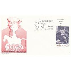 1988 Spanien 2826 Tag der Briefmarke Philatelie Ersttagsbrief  Guter Zustand  (Michel)