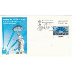 1988 Spanien 2831 Expo-Barna Ausstellung Ersttagsbrief  Guter Zustand  (Michel)
