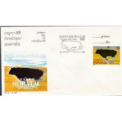 1988 Spanien 2833 Brisbane Bullen Ersttagsbrief  Guter Zustand  (Michel)