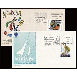 1988 Spanien 2838/2840  Sport Sport Ersttagsbrief  Guter Zustand  (Michel)