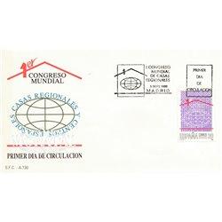 1988 Spanien 2839 Regionale Häuser  Ersttagsbrief  Guter Zustand  (Michel)