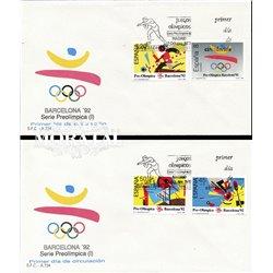 1988 Spanien 2844/2847  Barna 92 ich Sport Ersttagsbrief  Guter Zustand  (Michel)