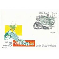 1988 Spanien Block33 Block Carlos III Könige Ersttagsbrief  Guter Zustand  (Michel)