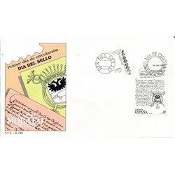 1989 Spanien 2880 Tag der Briefmarke Philatelie Ersttagsbrief  Guter Zustand  (Michel)