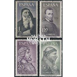 1963 Spanien 1430/1433  Persönlichkeiten Persönlichkeiten * Falz Guter Zustand  (Michel)