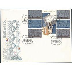 1989 Spanien 2895/2900 Zd-Bogen Block-Spitze Handwerk Ersttagsbrief  Guter Zustand  (Michel)