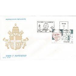 1989 Spanien 2901 Papst und Jugend Religiös Ersttagsbrief  Guter Zustand  (Michel)