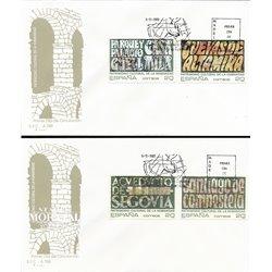 1989 Spanien 2921/2919  Weltkulturerbe II Tourismus Ersttagsbrief  Guter Zustand  (Michel)