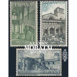 1964 Espagne 1215/1217  Huerta Monastère-Tourisme *MH TB Beau  (Yvert&Tellier)