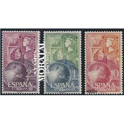 1964 Espagne 1247/1249  Journée du timbre Philatélie *MH TB Beau  (Yvert&Tellier)
