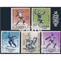 1964 Espagne 1279/1283  J.J.O.O. InnsBruck et Tokyo Sportif *MH TB Beau  (Yvert&Tellier)