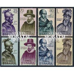 1964 Espagne 1286/1293  Découvreurs Personnalités *MH TB Beau  (Yvert&Tellier)