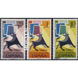 1965 Spanien 1548/1550  Tag der Briefmarke Philatelie ** Perfekter Zustand  (Michel)