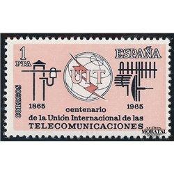1965 Spanien 1551 U.I.T. Amtlichen Stellen ** Perfekter Zustand  (Michel)