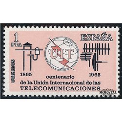 1965 Spanien 1551 U.I.T. Amtlichen Stellen * Falz Guter Zustand  (Michel)
