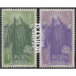 1965 Spanien 1565/1566  Europa Europa ** Perfekter Zustand  (Michel)