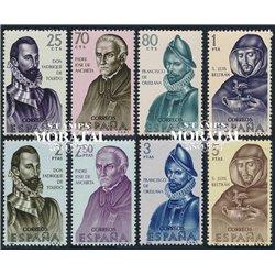 1965 Spanien 1568/1575  Entdecker Persönlichkeiten ** Perfekter Zustand  (Michel)