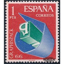 1966 Spanien 1597 Graphispack Ausstellung ** Perfekter Zustand  (Michel)
