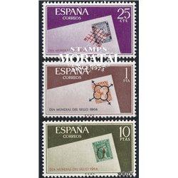 1966 Spanien 1613/1615  Tag der Briefmarke Philatelie ** Perfekter Zustand  (Michel)