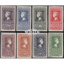 1950 Spanien 975/982  100-jähriges Briefmarken Philatelie ** Perfekter Zustand  (Michel)