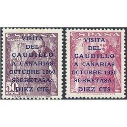 1950 Espagne 806A/807A Canaries 1er  *MH TB Beau  (Yvert&Tellier)