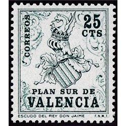 1963 España V-1 Escudo Valencia Valencia **MNH Perfecto Estado  (Edifil)