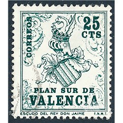 1963 Spain  Sc 0 Coat Arms Valencia Coat arms (o) Used, Nice  (Scott)