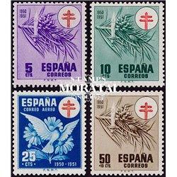 1950 Spanien Zwangszuschlagsmarken52/54  Pro-Tuberkulose Wohltätigkeit * Falz Guter Zustand  (Michel)